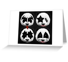 panda kiss  Greeting Card