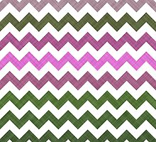 Pink Roses in Anzures 1 Chevron 1T by Christopher Johnson