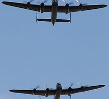 Two Lancaster Bomber's together by danielkennedy93