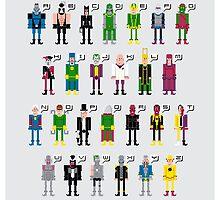 Supervillain Alphabet by Sergei Vozika