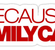 BECAUSE FAMILY CAR (7) Sticker