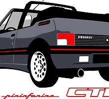 Peugeot 205 CTI cabriolet grey by car2oonz