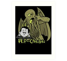 H.P. and Cthulhu Art Print