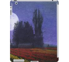 moon rise over the tulip fields iPad Case/Skin