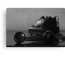 Vintage Telephone black-and-white Canvas Print