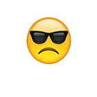 sad sunglasses emoji by Kelsey Sneddon