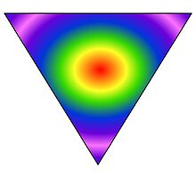 NEON INVERTED TRIANGLE by Rock-it