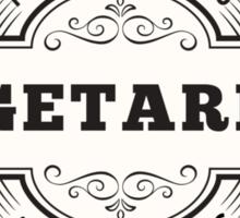 Vegetarian Natural Grains and Veggies Sticker