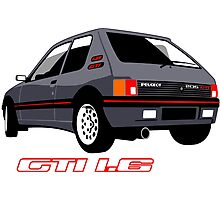 Peugeot 205 GTI 1.6 grey Photographic Print