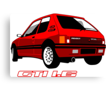 Peugeot 205 GTI 1.6 red Canvas Print