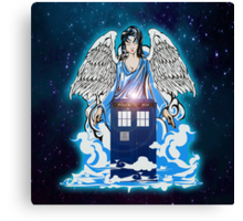 The angel has a phone box Canvas Print