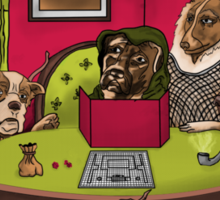 Dogs Playing Dungeons & Dragons Sticker