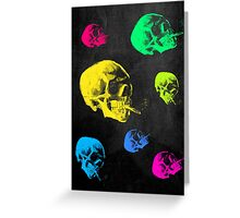 Van Gogh Skull with burning cigarette remixed Greeting Card