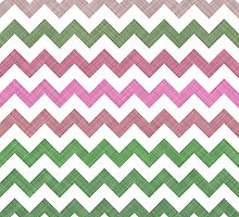 Pink Roses in Anzures 1 Chevron 2T by Christopher Johnson