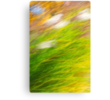 Fall Grass Abstract Canvas Print