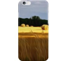 The Color of Straw abstract landscape by Alma Lee iPhone Case/Skin