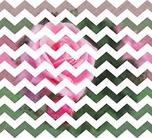Pink Roses in Anzures 1 Chevron 3T by Christopher Johnson
