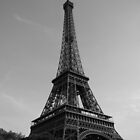 Eiffel Tower Black & White (Paris) by Mathieu Longvert