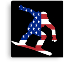 Snowboard USA Canvas Print