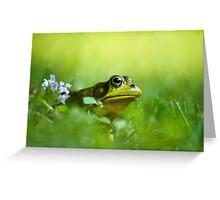 Wild Green Frog Greeting Card