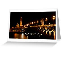 Pont Alexandre 3 Greeting Card