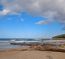 On the beach at Yamba NSW by Margaret Morgan (Watkins)