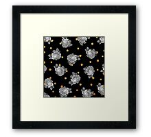 Roses and Gold Dots Framed Print