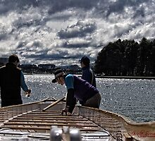 Preparing a Dragon Boat for a Race by Wolf Sverak