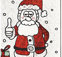 Santa Thumbs Up by Kevin Dellinger