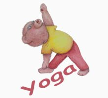 Flexible Yoga Bear in triangle pose Kids Clothes