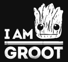"Guardians Of The Galaxy ""I Am Groot"" Quote (White) by Chad D'cruze"
