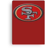 Steel San Francisco 49ers Logo Canvas Print