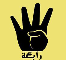 Four-finger 'Rabaa sign' by lodovic