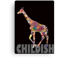 CHILDISH GIRAFFE GRAY Canvas Print