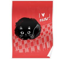 I heart Meow! Poster