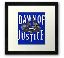 Batman V Superman Dawn Of Justice Framed Print
