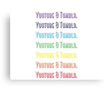 Youtube & Tumblr Canvas Print