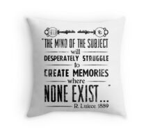 The Infinite Starter Remastered (Black) Throw Pillow