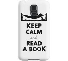 KEEP CALM AND READ A BOOK Samsung Galaxy Case/Skin