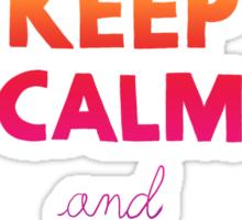 KEEP CALM AND READ A BOOK (RAINBOW) Sticker