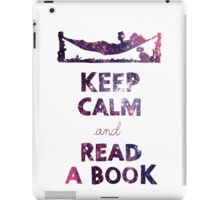 KEEP CALM AND READ A BOOK (Space) iPad Case/Skin