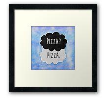 Pizza? Pizza. Framed Print
