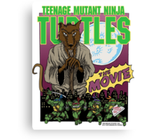 Ninja Turtles Retro First Movie 1990 Splinter Canvas Print