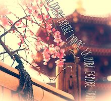 Explore Plum Blossoms Pagoda Bamboo Fence by Beverly Claire Kaiya