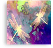 Dragonflies Dragonflies A Duvet Covers, Throw Pillows, Tote bag Canvas Print