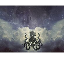 Flying Octopus  Photographic Print