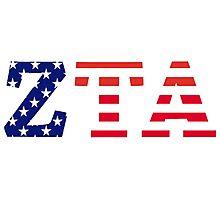 zeta tau alpha american flag Photographic Print