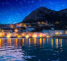Night Skies Over The Isle of Capri by Mark Tisdale