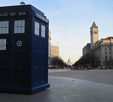 TARDIS in DC by bplavin