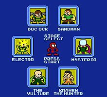8-Bit Spider-Man Sinister Six Stage Select by groundhog7s